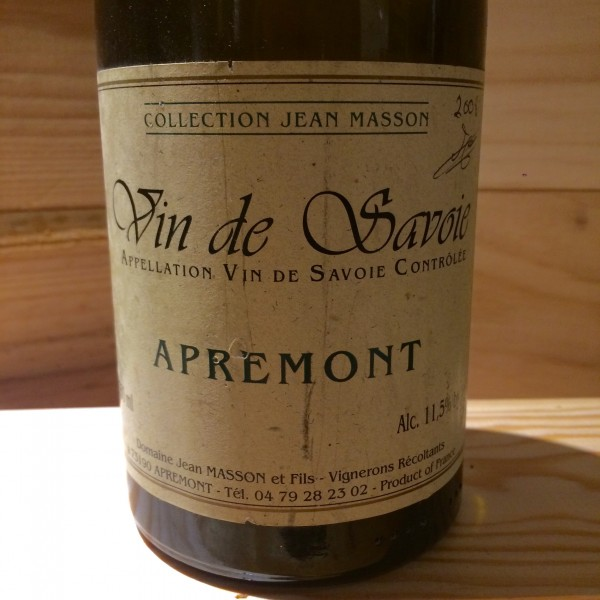 Vin Blanc Savoie Apremont  Collection Jean Masson 2008