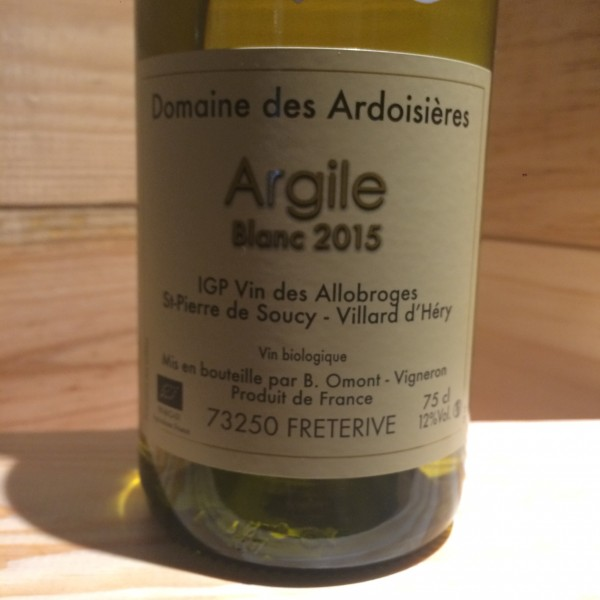 ARGILE BLANC DOMAINE DES ARDOISIERES IGP ALLOBROGIE BRICE OMONT 2015