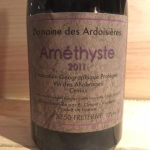 Améthyste Domaine des Ardoisières I.G.P Allobrogie Brice Omont 2011