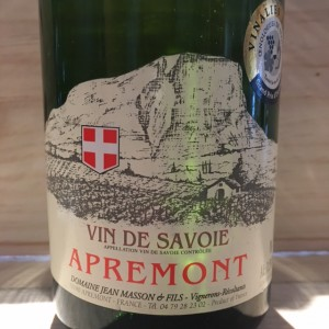 Apremont  cuvée Lisa Jean Masson 2005