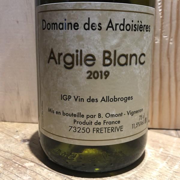 Vin Blanc Savoie Argile blanc Domaine des Ardoisiéres I.G.P Allobrogie Brice Omont 2019