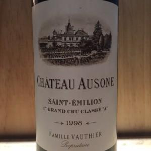 Ausone St Emilion Grand cru classé 1er 1998