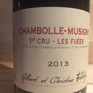 Chambolle Musigny 1er cru Les Fuées Henri Felletig 2013