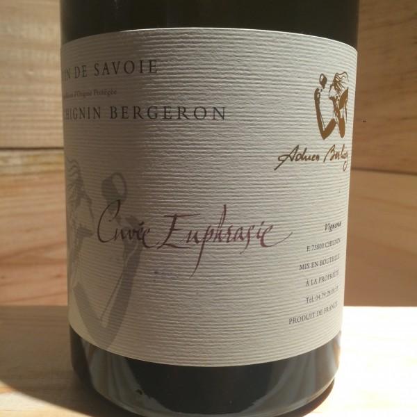Vin Blanc Savoie Chignin Bergeron Euphrasie Adrien Berlioz 2018 BIO