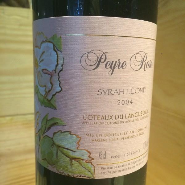 Coteaux du Languedoc  Syrah Leone Peyre Rose 2004