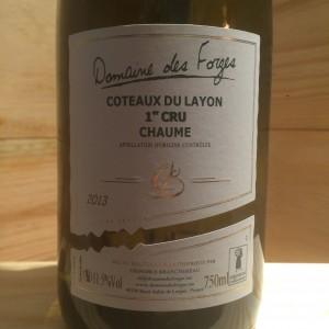 Coteaux du Layon Domaine des Forges 2013