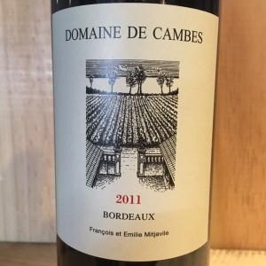 Domaine de Cambes Bordeaux 2011