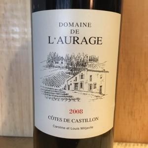 Domaine de l'Aurage  Côtes de Castillon  2008