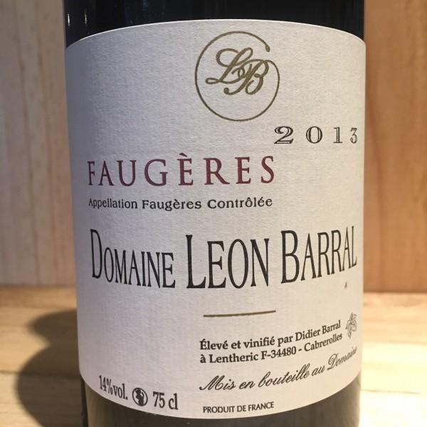 Faugères Tradition Domaine Léon Barral 2013