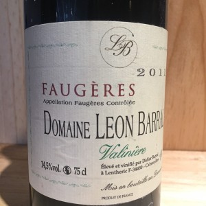 Faugères Valinière Domaine Léon Barral 2011