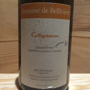 Jasnière Calligramme  Domaine Bellivière Eric Nicolas 2009