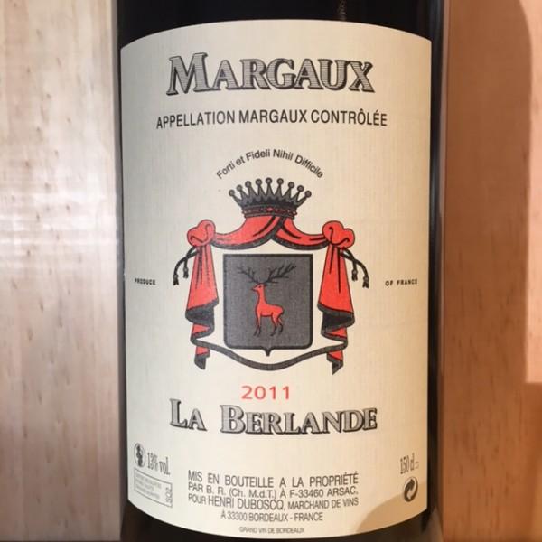 La Berlande Margaux 2011