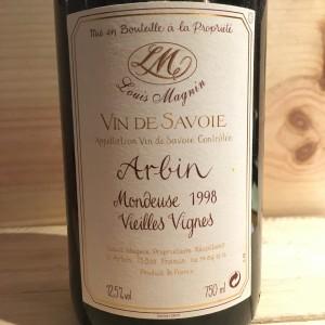 Mondeuse d'Arbin Vieilles Vignes Louis Magnin 1998