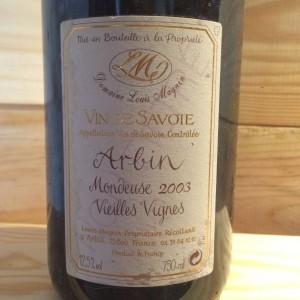 Mondeuse d'Arbin Vieilles Vignes Louis Magnin 2003