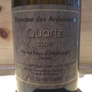 Quartz Domaine des Ardoisiéres I.G.P Allobrogie Brice Omont 2009