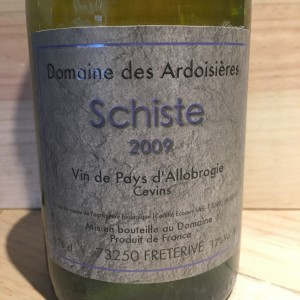 Schistes Domaine des Ardoisiéres I.G.P Allobrogie Brice Omont 2009