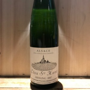 riesling clos st hune trimbach 2007