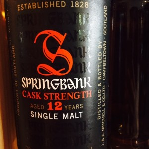 springbank cask strenght aged 12y