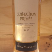 CÔTE DE PROVENCE COLLECTION PRIVEE 2015 CHT MARAVENNE