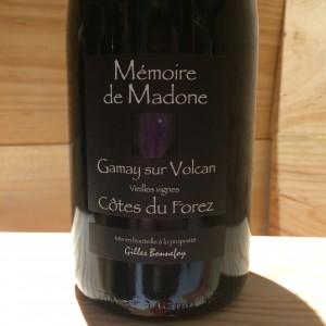 CÔTE DU FOREZ GAMAY SUR VOLCAN VIEILLES VIGNES MEMOIRE DE MADONE 2014 GILLES BONNEFOY