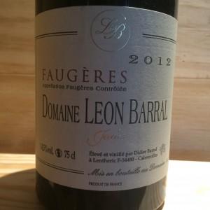 Faugères Jadis Domaine Léon Barral 2012