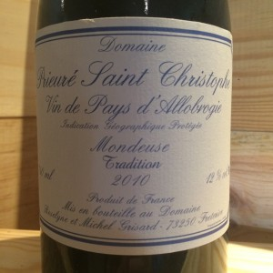 Mondeuse Tradition Michel Grisard 2010
