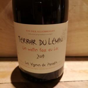Vin Blanc Savoie Vignes de Paradis Un Matin Face au Lac 2019 IGP Vin des Allobroges BIO