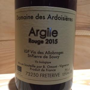 ARGILE ROUGE DOMAINE DES ARDOISIERES IGP ALLOBROGIE BRICE OMONT 2015