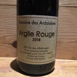 Vin Rouge Savoie Argile Rouge 2018 Domaine des Ardoisières IGP Allobrogie Brice Omont