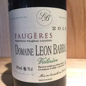 Faugères Valinière Domaine Léon Barral 2012