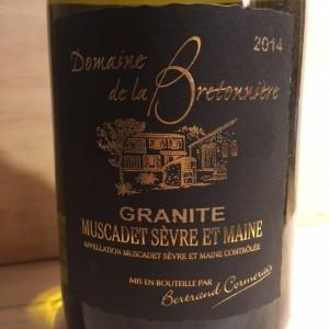 Muscadet Sévre et maine Granite 2014 Domaine de la Bretonnière