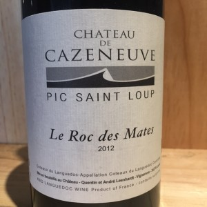 Pic Saint Loup Le Roc des Mates Château de Cazeneuve 2012