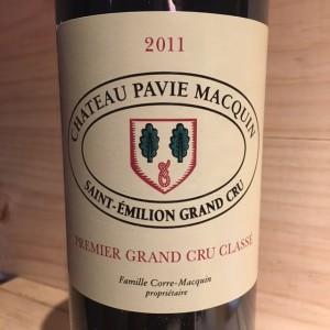 St Emilion Grand Cru Classé Château Pavie Macquin 2011