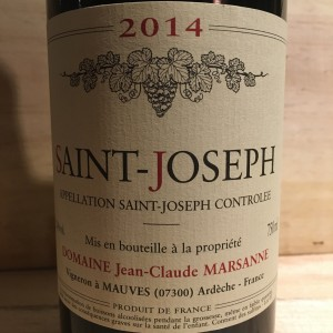 St Joseph 2014 Domaine Jean Claude Marsanne