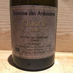 Vin Blanc Savoie Quartz Domaine des Ardoisières IGP Vin des Allobroges Brice Omont 2018 BIO